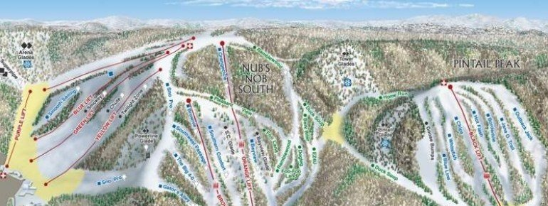 Trail Map Nubs Nob Ski Area