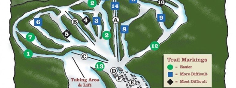 Trail Map Oak Mountain Ski Center