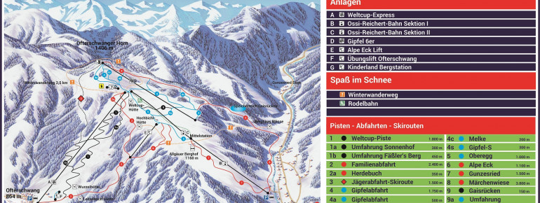 Trail Map Ofterschwang - Gunzesried