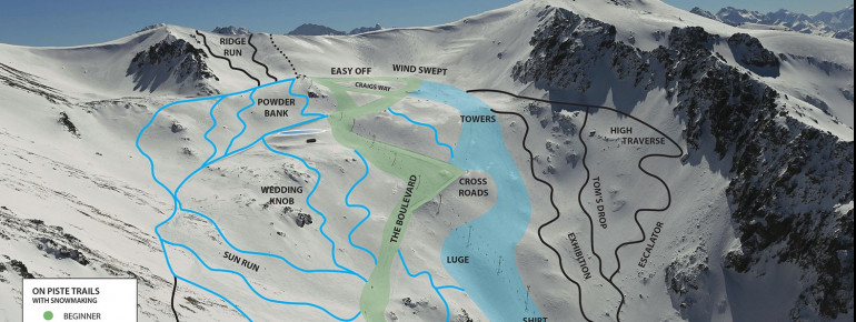 Trail Map Ohau Snow Field