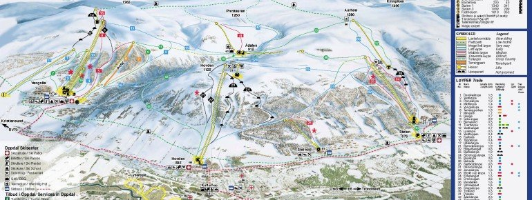 Trail Map Oppdal