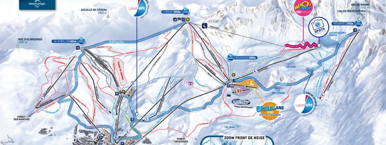 Trail map Orcières
