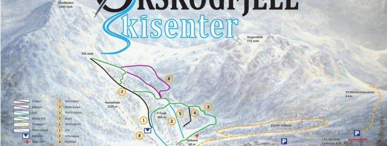 Trail Map Orskogfjellet