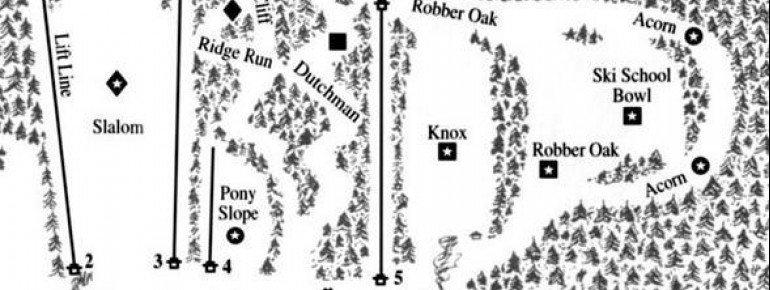 Trail Map Otis Ridge Ski Area