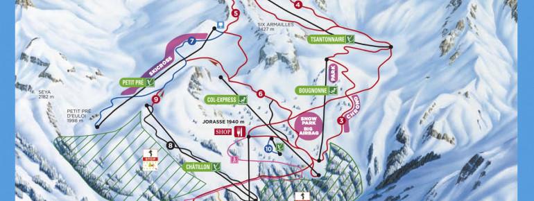 Trail Map Ovronnaz