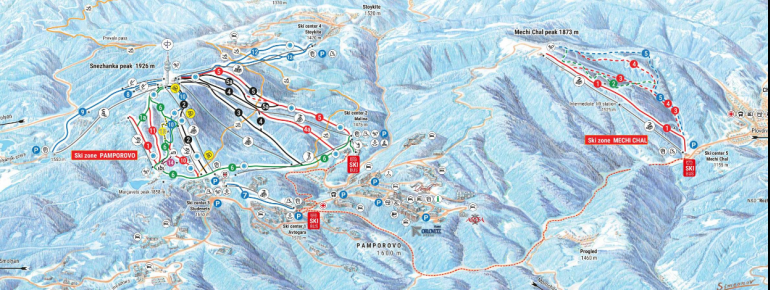 Trail Map Pamporovo