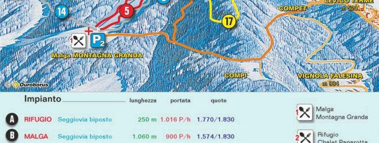 Trail Map Panarotta 2002