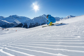 Paradiski ski area boasts 425 kilometres of slopes.