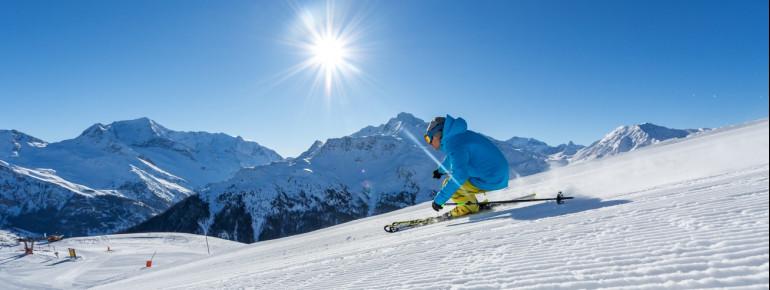 Paradiski ski area boasts 425 kilometres of slopes.