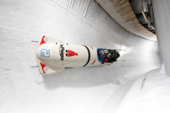 Prepare for high-speed at the bobsleigh run.
