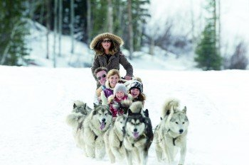 Discover the area around Park City during a nice dog sled tour for the whole family.