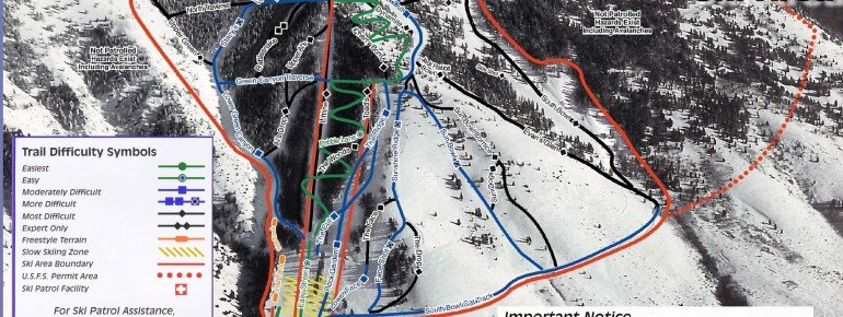 Trail Map Pebble Creek Ski Area
