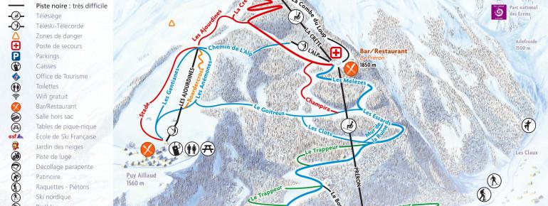 Trail Map Pelvoux Vallouise