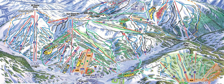 Trail Map Perisher Blue
