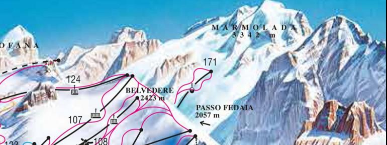 Trail Map Pian dei Fiacconi