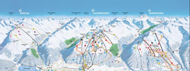 Trail Map Pischa Davos