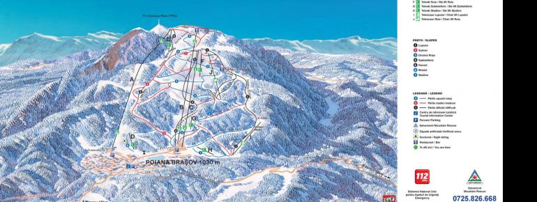 Trail Map Poiana Brasov