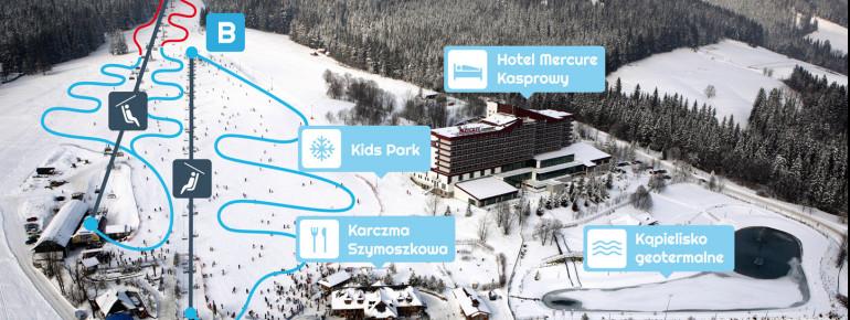 Trail map Polana Szymoszkowa Zakopane