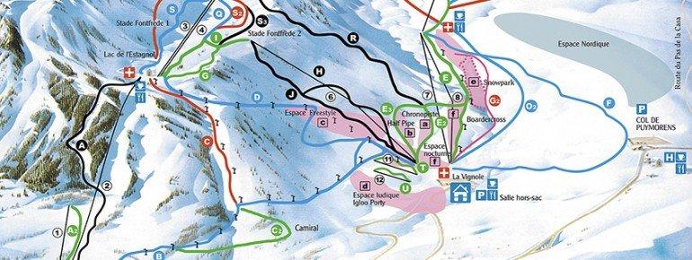 Trail Map Porte Puymorens