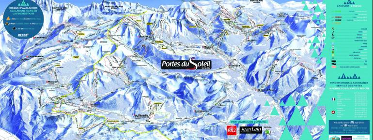 Trail Map Portes du Soleil