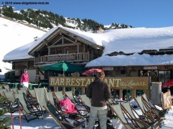 One of numerous mountain huts in Portes du Soleil - yes, there are 99 in number!