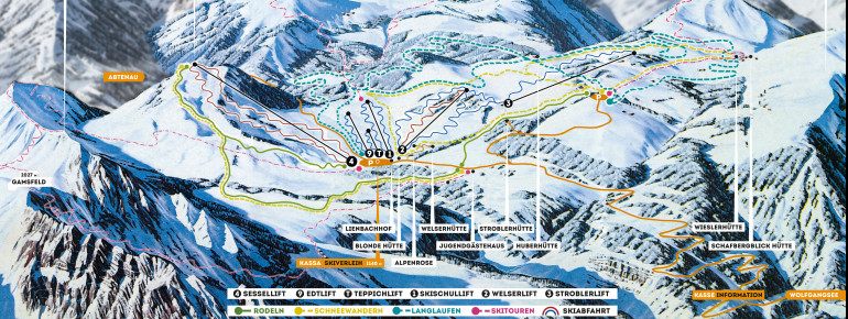 Trail Map Postalm