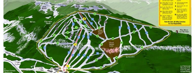 Trail Map Powder King