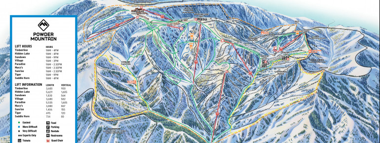 Trail Map Powder Mountain