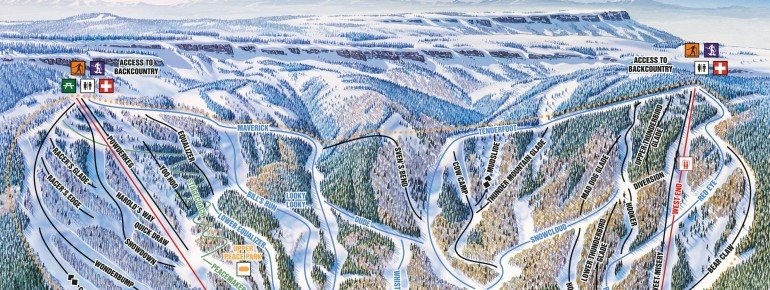 Trail Map Powderhorn Resort