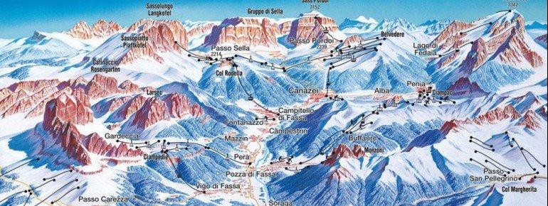 Trail Map Pozza di Fassa Buffaure