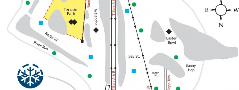 Trail Map Rabbit Hill Ski and Snowboard Center