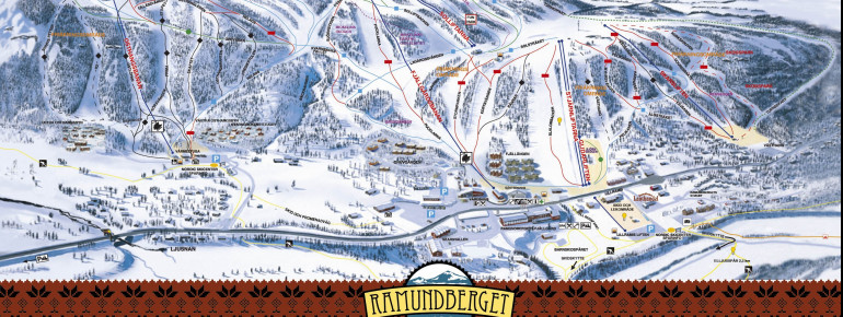 Trail Map Ramundberget