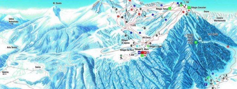 Trail Map Ravascletto Zoncolan