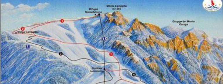 Trail Map Recoaro Mille Ski Resort