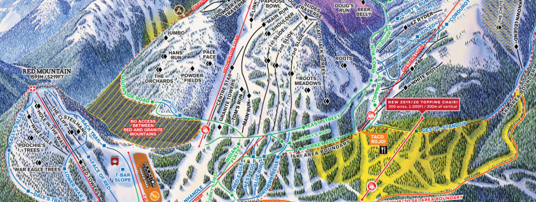 Trail Map Red Mountain Resort