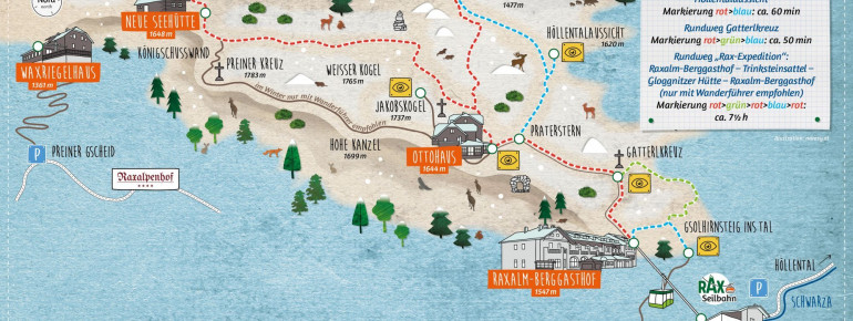 Trail Map Reichenau Rax