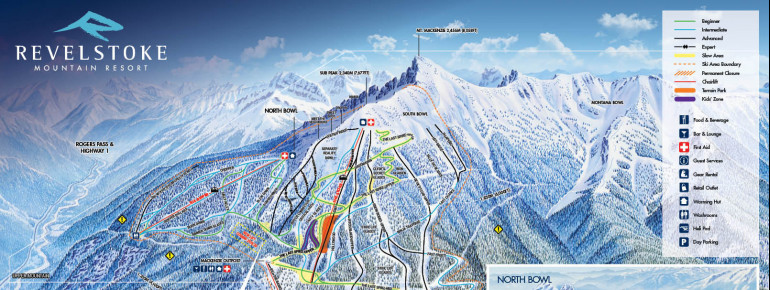 Trail Map Revelstoke Mountain Resort