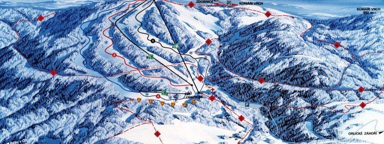 Trail Map Říčky v Orlických horách
