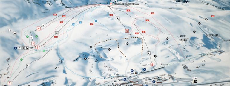 Trail Map Riksgränsen