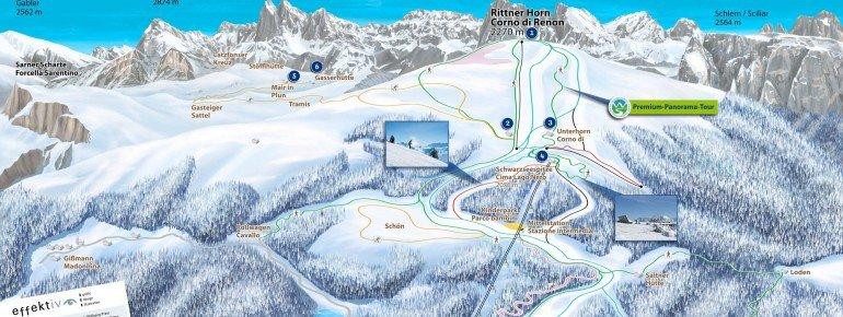 Trail Map Rittner Horn