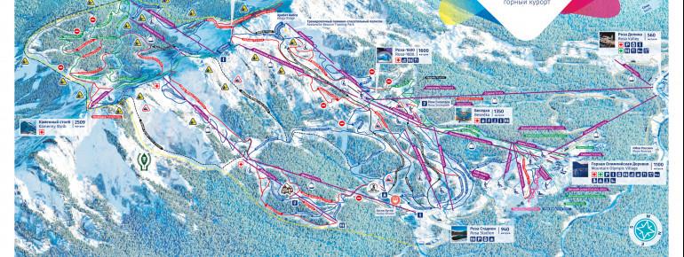 Trail Map Rosa Khutor