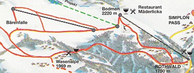 Trail Map Rothwald Wasenalp am Simplon