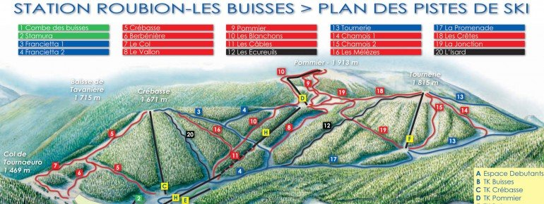 Trail Map Roubion