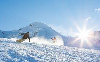 Skiing in Saas-Fee