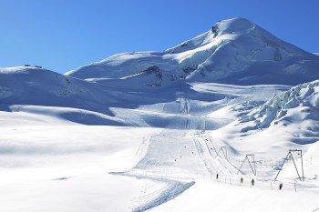 The glacier slopes