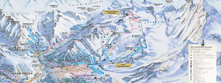 Trail Map Saas Fee