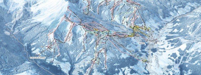 Trail Map Saint Gervais Mont Blanc