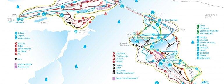 Trail Map Saint Jean Montclar
