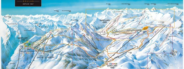 Trail Map Saint Lary Soulan