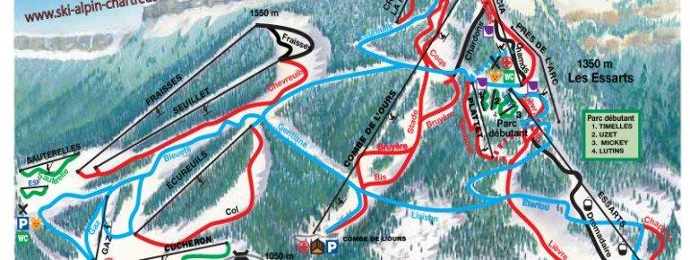 Trail Map Saint Pierre de Chartreuse